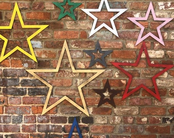Stars Industrial Sign Metal Shabby Chic Rustic Home Decor Wall Boho Urban barn 4 SIZES to Choose from
