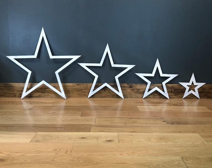 4 metal Stars , Industrial Sign , Shabby Chic decoration , Rustic decor , Christmas Decoration , metal barn stars