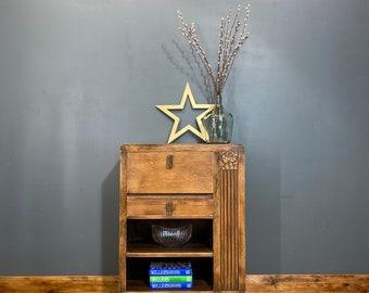 Vintage Oak Sideboard /art Deco Sideboard / Rustic Cabinet / Antique Sideboard