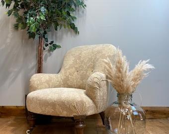 Victorian Button Back Chair/ Antique Armchair / Bedroom Chair / Nursing Chair