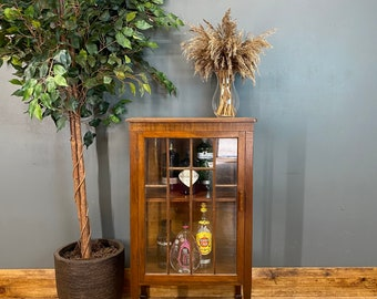 Antique Glazed Cabinet /Art Deco Sideboard / Mahogany Cabinet / Drinks Cabinet