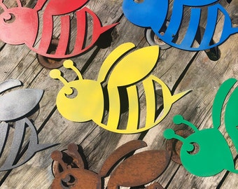 Rustic BUMBLEBEE BEE Sign Metal Shop Home decoration wall art Garden plaque Bug