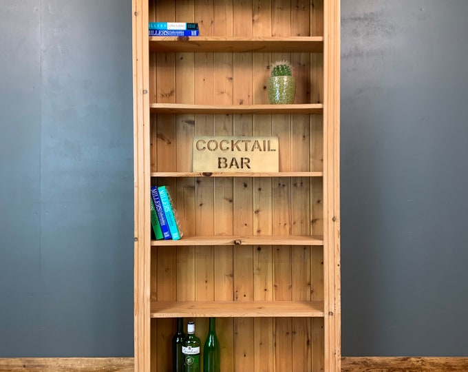 Vintage Bookcase / Pine Bookcase / Rustic Shelving / Vintage Shelving / A