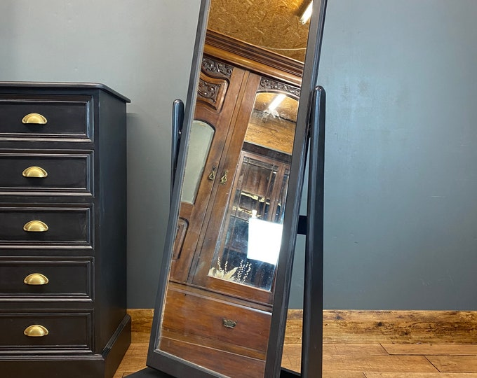 Vintage Mirror / Painted Upcycled Mirror / Dressing Mirror / Bedroom