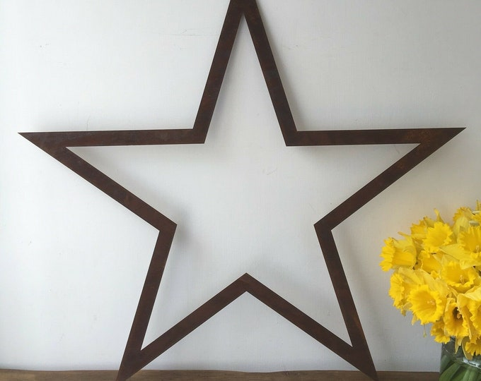 Star XL Industrial Rusty garden Lettering Letters Sign Metal Shop Home Barn Carnival