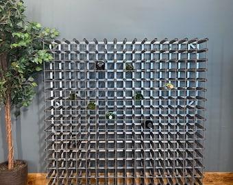 Large Pine Galvanised Metal Wine Rack /Wine Bottle Rack Holder / 256 Capacity