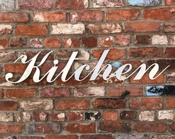 Steel KITCHEN Sign / Metal Lettering / Industrial Kitchen Sign / Galvanised