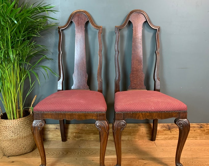 Antique chairs / Dining Chairs / mahogany chairs / Hallway chairs / Edwardian dining chairs / pair of Chairs