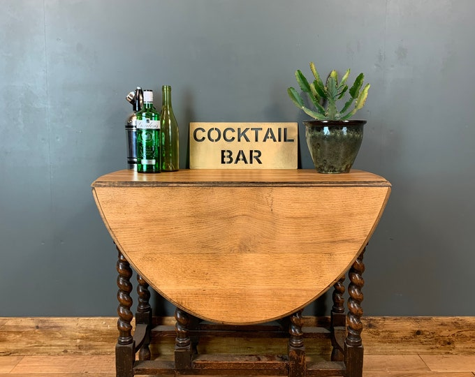 Farmhouse Table / ExtendingTable / Vintage Oak Table / Rustic Table / Antique Barely Twist / Rustic Kitchen Table / Farmhouse table