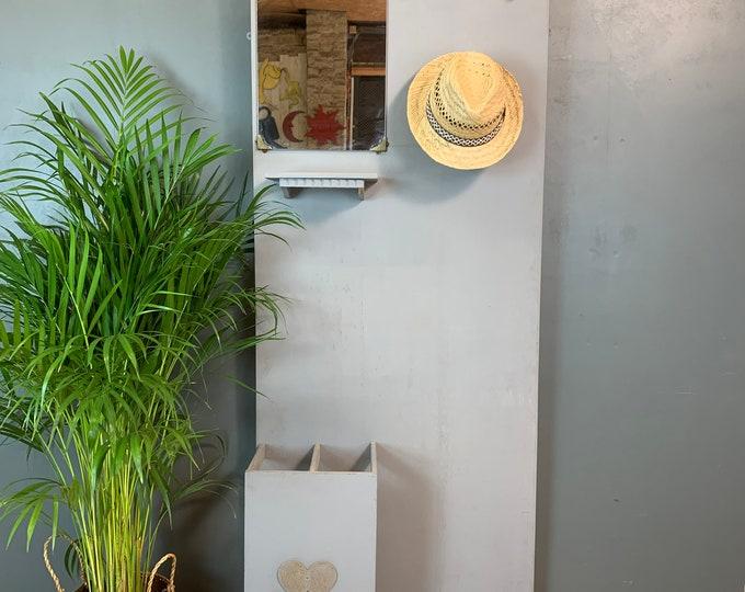 Retro Vintage Hallway Stand Painted Coat Stand Hook Umbrella Shabby Chic