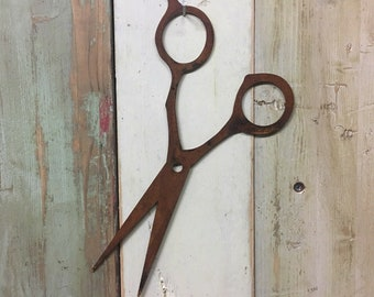 Rusty metal , BARBERS SCISSORS , OPEN Sign , Metal Shop sign , barbershop ,  hairdressing , Hairdressers , shop sign , shop decor