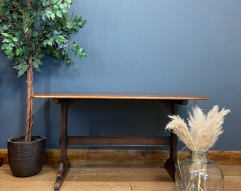 Small Vintage Ercol Refectory Table /Elm Dining Table / Retro Kitchen table