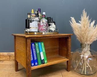 Antique Oak Coffee Table/  Arts & Crafts Oak Side Table/ Oak Tv Stand / Rustic