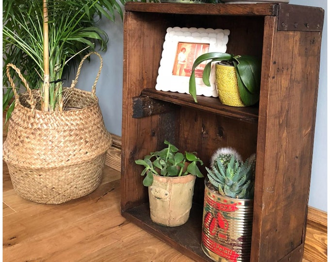 Rustic Reclaimed ammo Box Shelving Wall Unit Shelf Display Vintage Trunk Chest