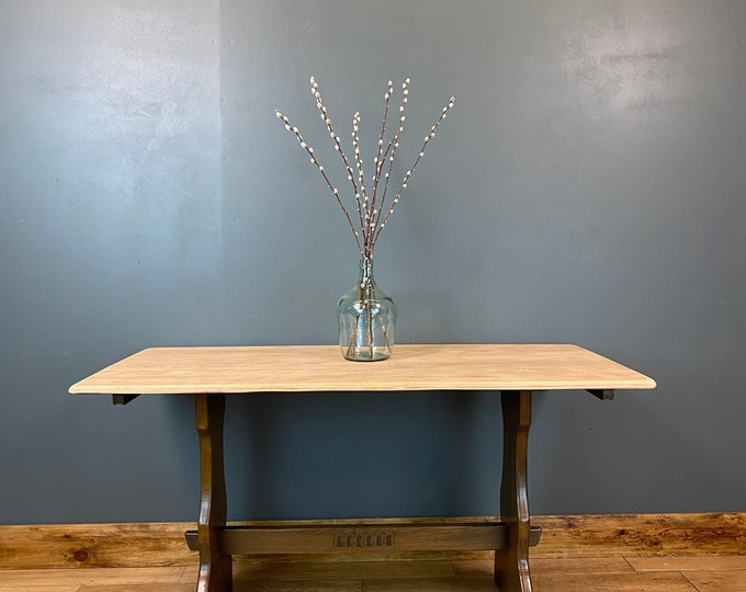 Vintage Refectory Table / Oak Dining Table / Rustic Farmhouse / Kitchen