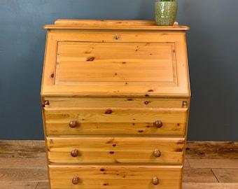 Pine Bureau / Pine Desk / Rustic Desk / Office Storage  / Vintage Drawers