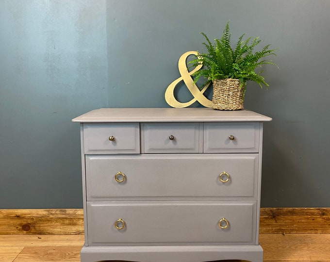 Chest Of Drawers / Painted Drawers / Stag / Bedroom Storage/ Shabby Chic Rustic