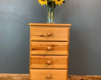 Pine Chest Of Drawers / Small Drawers / Rustic Drawers / Bedroom Storage /