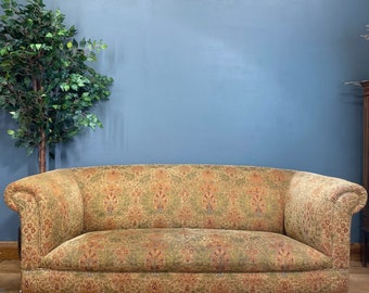 Vintage Large John Lewis Chesterfield sofa /John Sankey gable sofa /settee couch