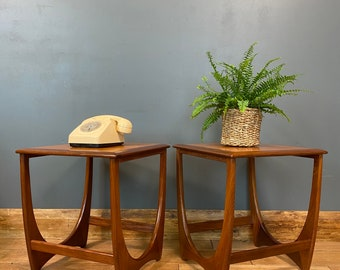Retro Teak Side Tables  /  G Plan / Bedside Tables / Lamp Tables / Mid Century