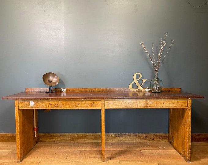 Vintage Kitchen Bench / Kitchen Table Island / School Lab Bench / Work Bench A