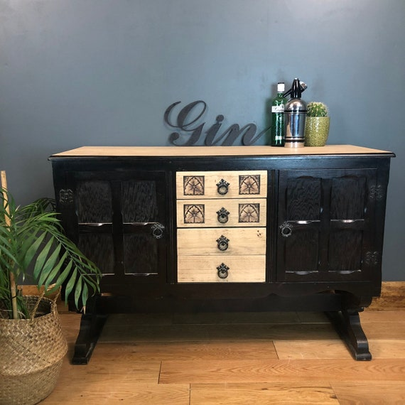 Shabby Chic Painted Sideboard Cupboard Drawers Rustic Vintage Cocktail Cabinet
