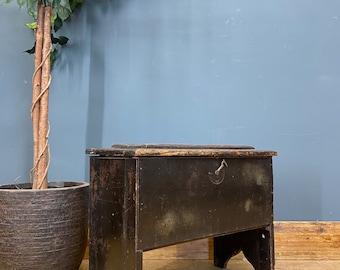 Antique Shoe Shine Box / Rustic Chest/Trunk Coffee Table /Rustic Box Storage
