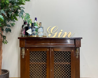 Antique Mahogany Cupboard / Double Cupboard / Home Bar / Drinks Cabinet