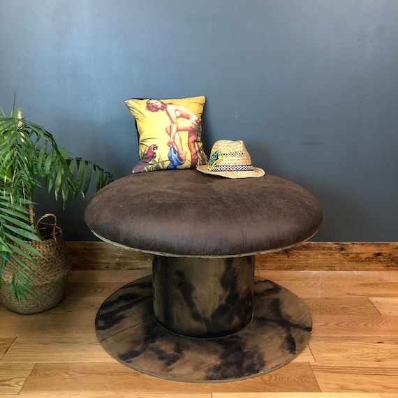 Upcycled Cable Drum Seating Seat Chair Cafe Barbershop Nail Bar Salon pub bar mancave