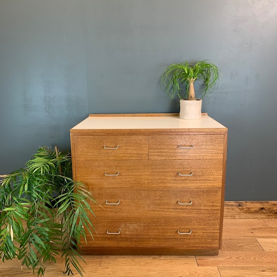 Vintage Retro MOD Chest Of Drawers Unit Sideboard Mid Century Bedroom Scandi B