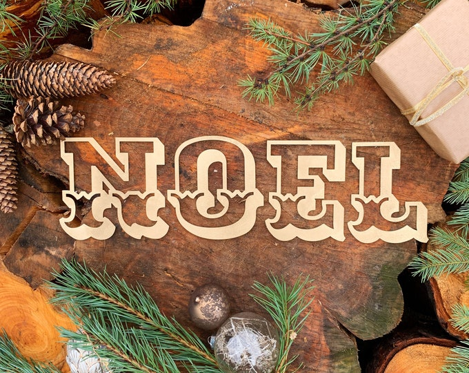 Rustic gold Christmas  NOEL letters / mantelpiece decorations / CHRISTMAS Lettering / Metal carnival letters /  Nordic decoration