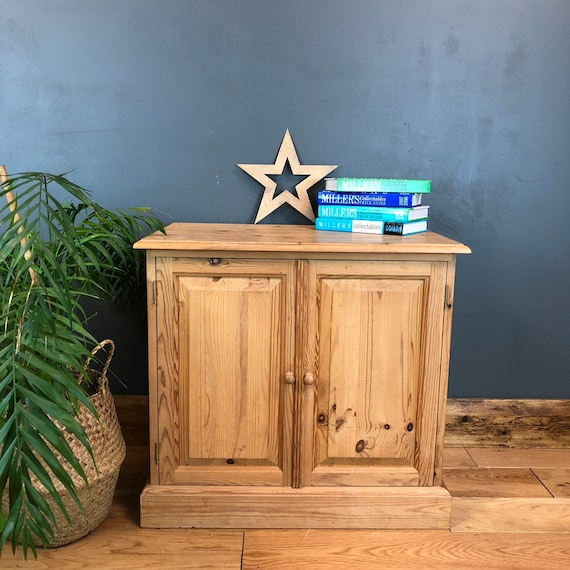 Shabby Chic Pine Bedside Cabinet Room Rustic Vintage Bedroom Tv Stand Cupboard