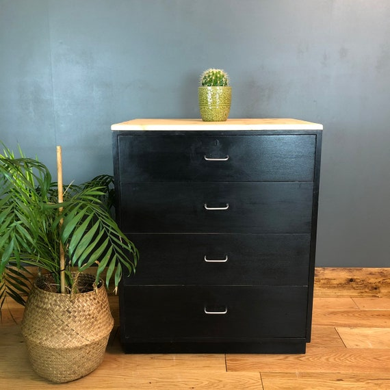 Rare 1970 Retro MOD Military Navy Vintage Chest Drawers War Department