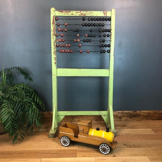 Antique Floor Standing Schoolhouse Abacus Display School Counting  Childrens