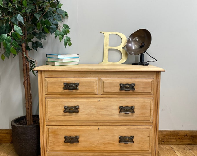 Antique Walnut Chest Of Drawers / Bedroom  Drawers / Rustic Chest Of Drawers