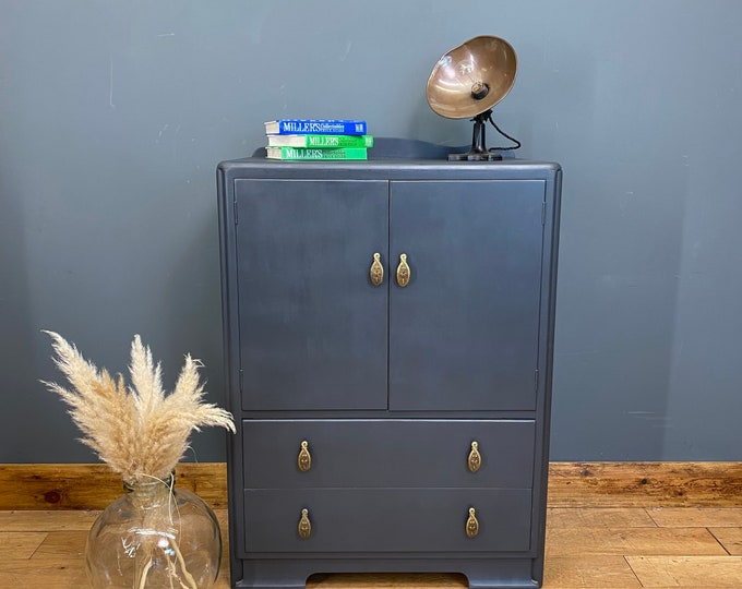 Linen Cupboard/ Vintage Sideboard /Painted Cupboard /Cocktail Cabinet /Home Bar