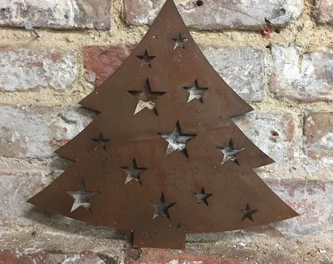 Rusty CHRISTMAS TREE  Christmas decoration , Christmas mantle Ornament , rustic Christmas decor ,