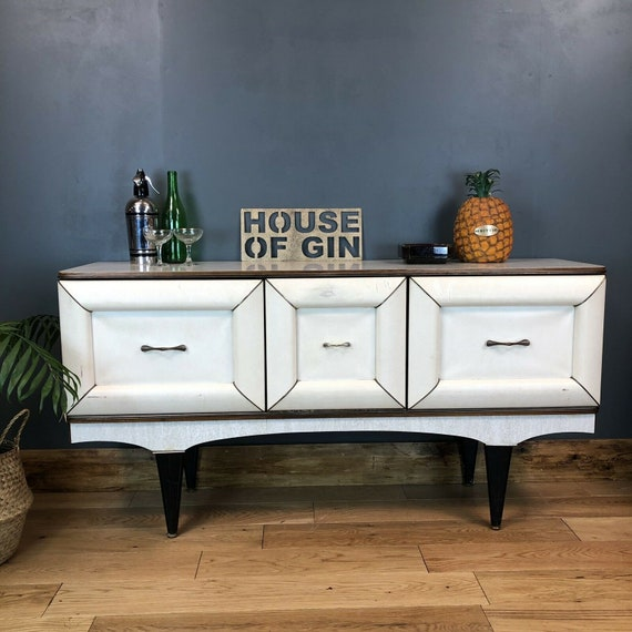Kitsch Retro1960s Sideboard Cocktail Cabinet Credenza Rare Stonehill Mid Century