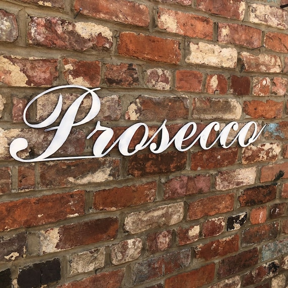 COLOURED PROSECCO Word Lettering Letters Sign Metal Home Shabby Chic Vintage Rustic