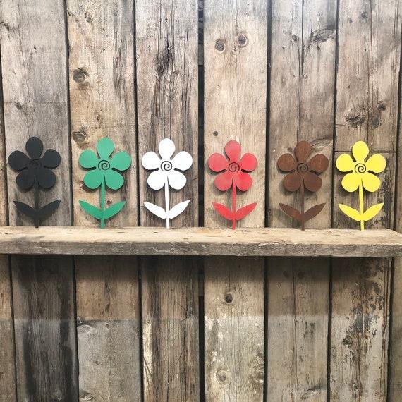 Rustic Metal PLANT FLOWER silhouette sign Shop Home bar Pub Cafe garden