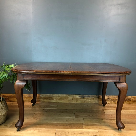 Antique Oval Extending mahogany Dining Kitchen table Victorian Wind Out