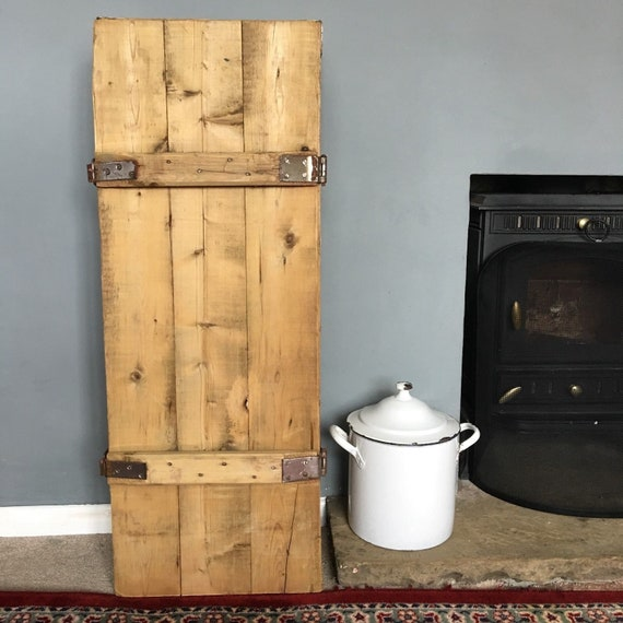 Vintage Rustic Wooden Trunk Box Chest Cabinet Cupboard Upcycled Kitchen Bathroom