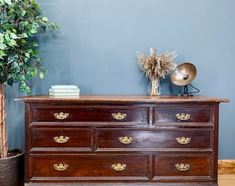 Antique Large Mahogany Chest Of Drawers /Bedroom Dresser / Dressing Table