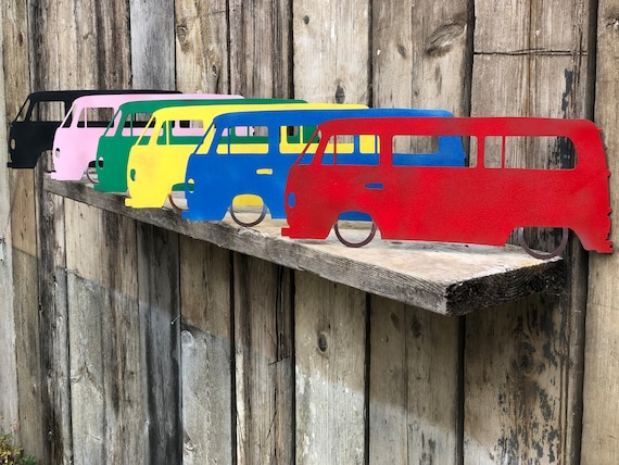 Rusted Rustic Colourful Metal Camper bus Van Sign