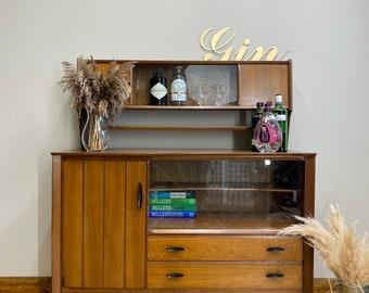 Retro Lebus Link Oak Sideboard /Mid Century Cocktail Cabinet / Drinks Cabinet