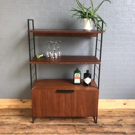 Retro Style Sideboard Cocktail Vintage Mid Century Style Cupboard Bookcase