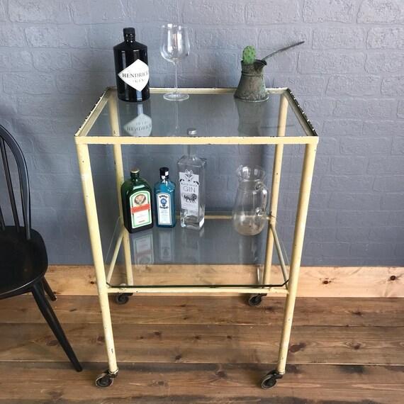 Retro Drinks Tea Trolley Sideboard Vintage Cocktails Retro Glass Metal Display