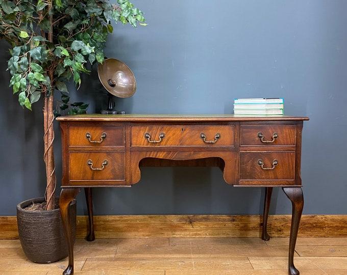 Vintage Mahogany Desk / Writing Table / Mahogany Sideboard / Console / Desk