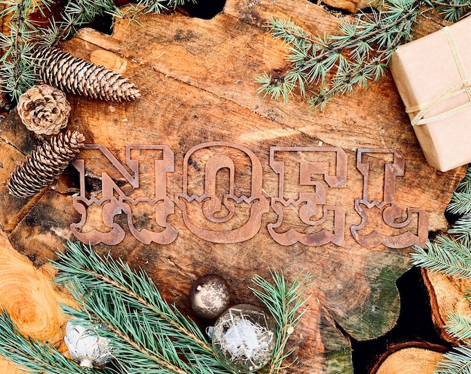 Rusty Metal NOEL letters / mantelpiece CHRISTMAS decorations/ carnival Lettering / Nordic decoration / boho Christmas