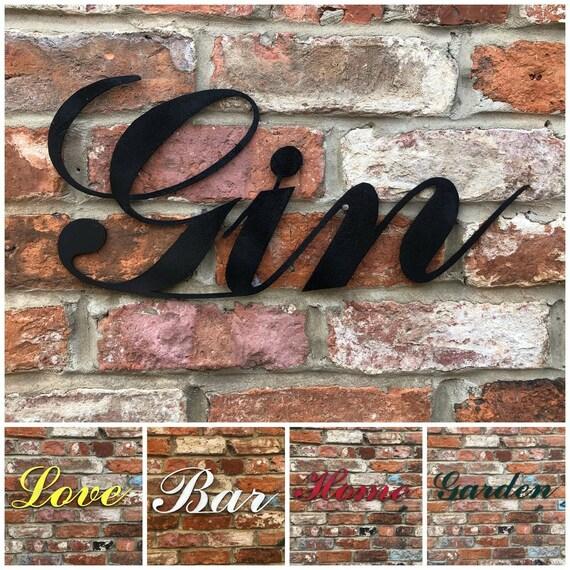 RUSTIC WORDS Lettering Letters Sign Metal Shop Front Home Bar Pub Man Cave Cafe
